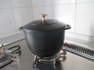 2合炊き(Mサイズ)のブラックのストウブ ラ・ココット デゴハン